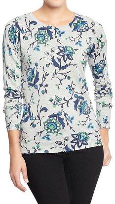 Old Navy Women's Printed Crew-Neck Sweaters