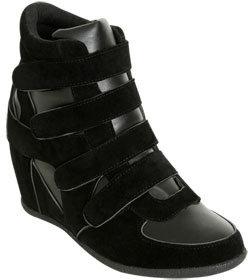 Wet Seal WetSeal Velcro Wedge Sneaker Black