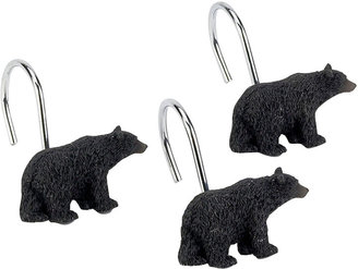 Avanti Black Bear Lodge Shower Curtain Hooks