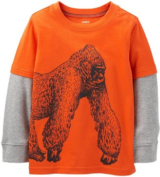 Carter's Graphic Two Fer (Toddler/Kid) - Orange-2T