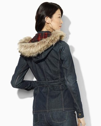 Lauren Ralph Lauren Denim Belted Jacket