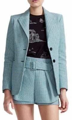 Maje Vikar Checkered Tweed Blazer