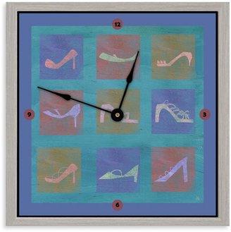 Green Leaf Art Fashion Shoes Decorative Art Clock