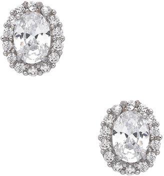 JG Clear Stone Estate Earrings