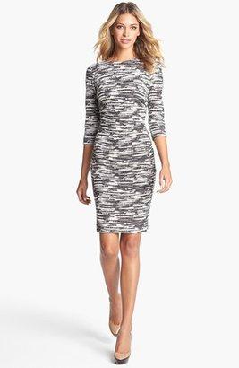 Nicole Miller Jacquard Ponte Knit Sheath Dress