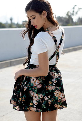 Forever 21 Floral Print Overall Dress