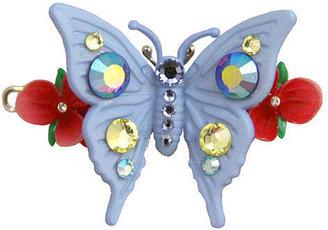 Tarina Tarantino Fargallina-Butterfly Barrette Hair Clip, Colonial Blue 1 ea
