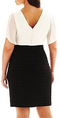 JCPenney Scarlett Flutter-Sleeve Shutter Dress - Plus