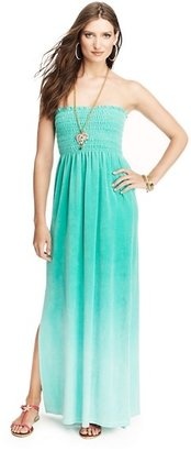 Juicy Couture Ombre Strapless Velour Maxi Dress