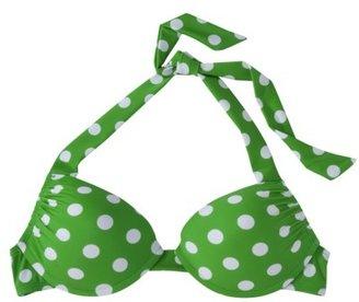 Mossimo Women's Mix and Match Dot Push-Up Swim Top -Kelly Green