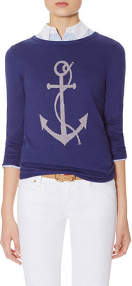 The Limited Intarsia Anchor Sweater