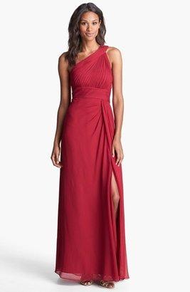 Aidan Mattox One Shoulder Silk Gown