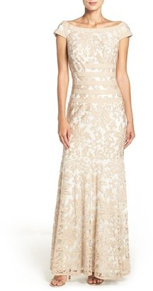 Women's Tadashi Shoji Textured Lace Mermaid Gown $298 thestylecure.com