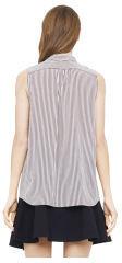 Club Monaco Melissa Striped Silk Top