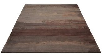 """Calvin Klein Luster Hand-Knotted Wool Slate/Brown Area Rug Rug Size: Rectangle 8'3"""" x 11'"""