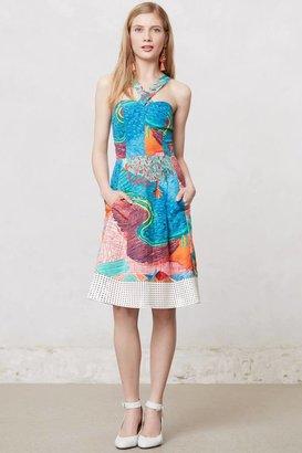 Anthropologie Patchworked Aida Dress