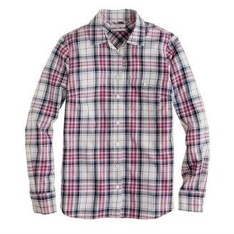 J.Crew Boy shirt in mint strawberry plaid