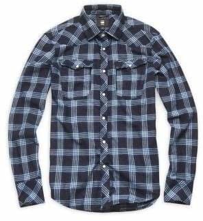 G Star Slim-Fit Plaid Button-Down Shirt