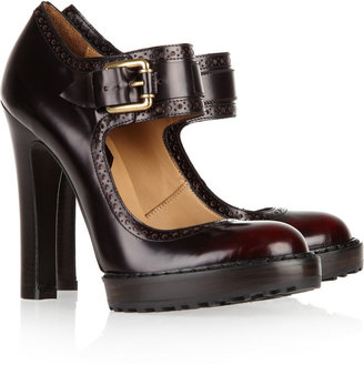 McQ by Alexander McQueen Glossed-leather Mary Jane pumps
