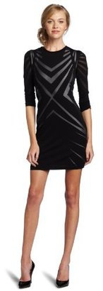 Nicole Miller Women's Long Sleeve Mini Dress