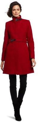 Via Spiga Women's Maria Stand Collar Coat