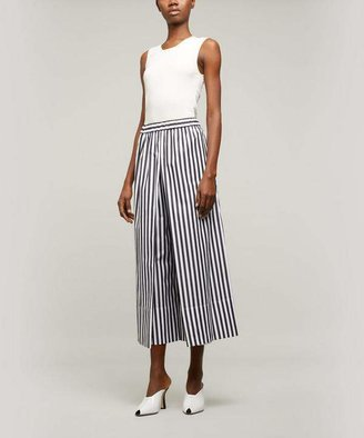 Rosetta Getty Striped Wide-Leg Culottes