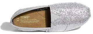 Toms 'Classic Youth - Glitter' Slip-On (Toddler, Little Kid & Big Kid)