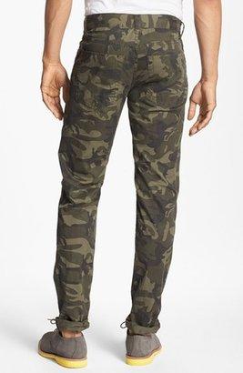 Camo Williamsburg Garment Company 'Grand Street' Slim Fit Relaxed Leg Pants Green 30