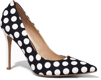 Express Pointed Toe Polka Dot Runway Pump