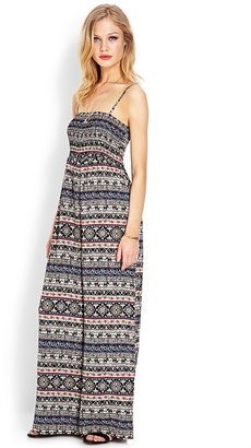 Forever 21 Day Trip Smocked Jumpsuit