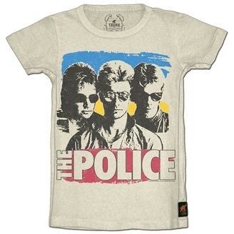Mini Trunk Kid's Police Wrapped Around Your Finger Tee - Ivory