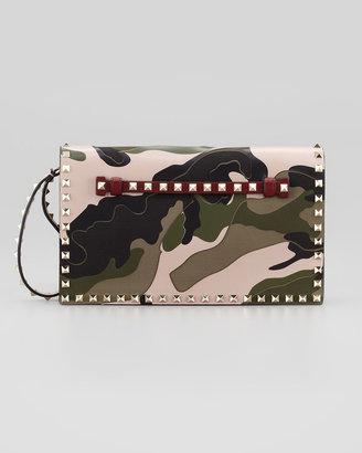 Valentino Rockstud Camo Wristlet Bag