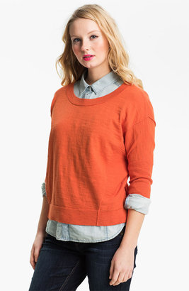 Caslon Slub Crewneck Sweater