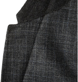 Burberry Grey Wool, Silk and Linen-Blend Suit Trousers