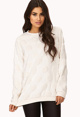 Forever 21 Kitschy-Chic Faux Fur Sweatshirt