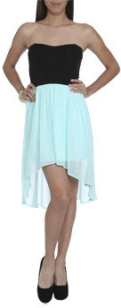 Wet Seal WetSeal Sweetheart 2fer High-Low Dress Beach Glass