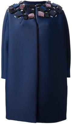 MSGM embellished neoprene coat