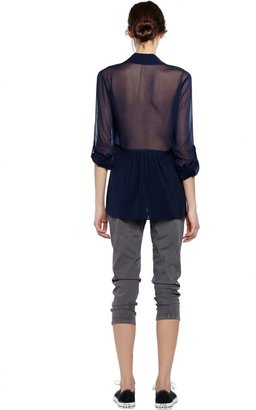 Alice + Olivia Beau Flare Back Blouse