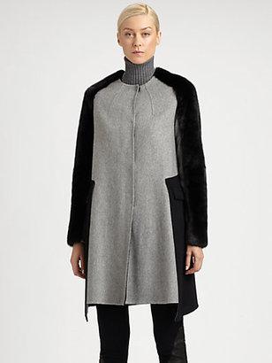 Fendi Cashmere & Mink Coat