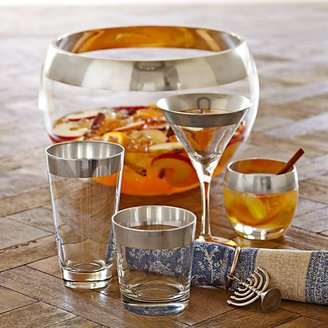 Williams-Sonoma Silver Banded Martini Glasses, Set of 4