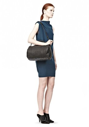 Alexander Wang Rocco In Rubberized Black With Iridescent