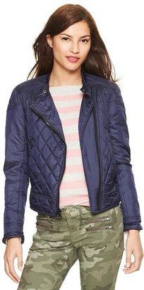 Gap Quilted moto puffer