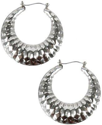 Forever 21 Faceted Hoop Earrings