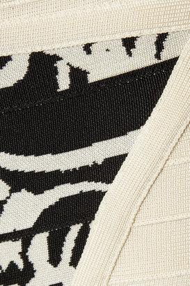 Herve Leger Printed bandage shorts