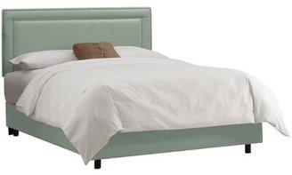 Wayfair Custom Upholstery Olivia Upholstered Standard Bed Size: California King, Body Fabric: Linen Swedish Blue