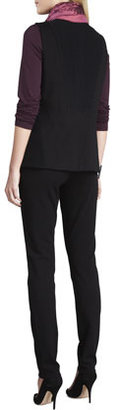Eileen Fisher Boiled Wool Asymmetric-Zip Vest