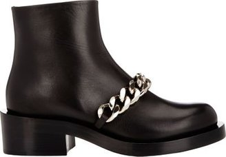 Givenchy Women's Laura Chain-Link Ankle Boots-BLACK $1,395 thestylecure.com