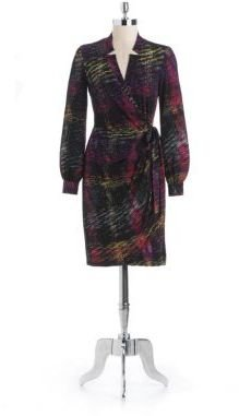 Maggy London Printed Wrap Dress