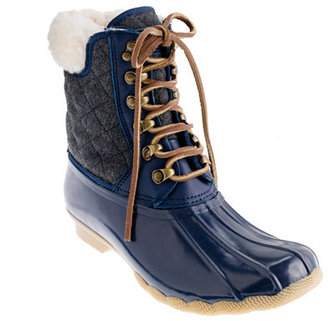 Sperry for J.Crew quilted short Shearwater boots