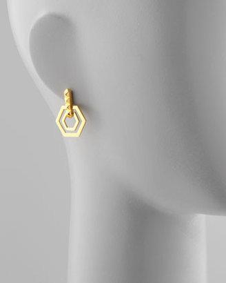 Eddie Borgo Small Edie Hexagonal Earrings
